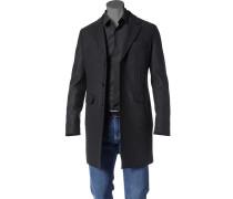 Herren Mantel Parka Woll-Mix schwarz schwarz,schwarz