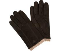 strellson Handschuhe Nubukleder dunkelbraun
