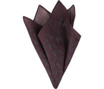 Accessoires Einstecktuch Wolle aubergine gemustert