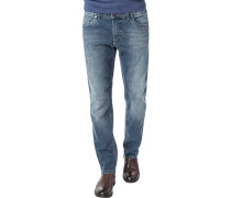 Blue-Jeans, Modern Fit, Baumwolle, denim