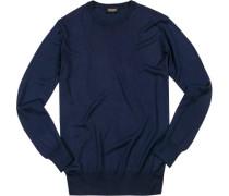 Pullover Seide-Kaschmir marine
