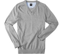 Pullover Modern Fit Baumwolle silbergrau