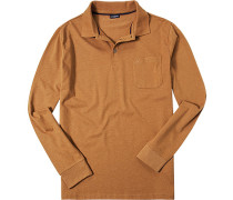 """Herren Polo-Shirt Polo Baumwoll-Jersey orange meliert """""""