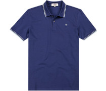 Polo-Shirt Polo Regular Fit Baumwoll-Piqué azurblau