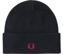 Mütze Wolle navy