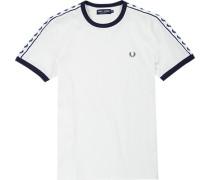 T-Shirt Baumwolle wollweiß