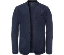 Cardigan Modern Fit Baumwolle dunkelblau meliert