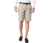 Herren Hose Shorts Modern Fit Baumwoll-Stretch beige
