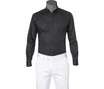 Hemd, Slim Fit, Popeline, anthrazit