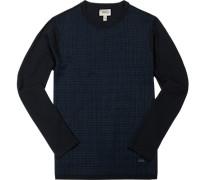 Pullover Baumwolle nachtblau gemustert