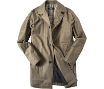 Mantel Baumwolle wasserabweisend khaki