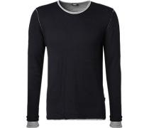 Pullover Modern Fit Baumwolle navy