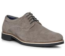 Schuhe Derby, Veloursleder