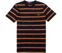 Herren T-Shirt Baumwolle schwarz gestreift