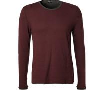 Pullover Modern Fit Baumwolle bordeaux
