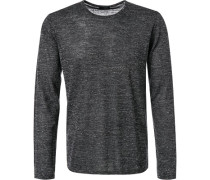 Pullover Wolle-Leinen meliert