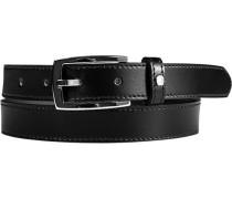 Herren Gürtel schwarz Breite ca. 2,5 cm