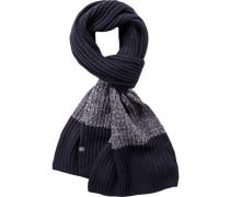 Schal Baumwolle marineblau-hellgrau gestreift