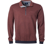 Pullover Troyer, Baumwolle, chianti