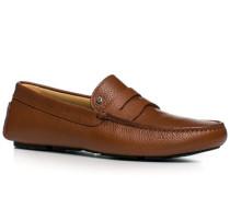 Schuhe Mokassins Kalbleder cognac ,beige