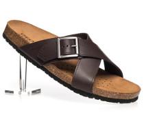 Herren Schuhe Sandalen Leder dunkelbraun braun,braun