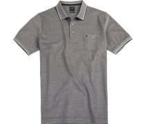 Polo-Shirt Polo Modern Fit Baumwoll-Piqué schwarz