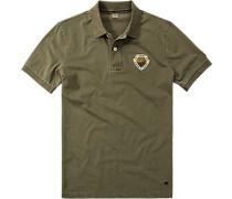 Polo-Shirt Polo Baumwoll-Jersey khaki