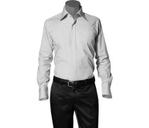Hemd, Ultra Slim Fit, Popeline, hellgrau