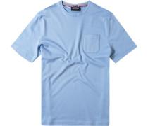 T-Shirt Baumwolle hellblau meliert