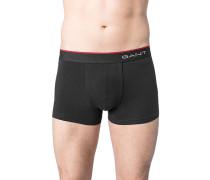Herren Unterwäsche Trunk Baumwoll-Stretch schwarz