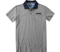 Polo-Shirt Polo Baumwoll-Jersey meliert