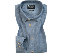 Hemd, Tailored Fit, Chambray, meliert