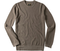 Pullover Baumwolle taupe