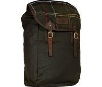 Tasche Rucksack, Baumwolle gewachst, oliv
