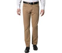 Herren Blue-Jeans Regular Fit Baumwoll-Stretch haselnuss braun
