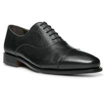 Herren Schuhe Oxford Kalbleder schwarz schwarz,braun