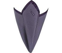 Accessoires Einstecktuch Seide violett-weiß gepunktet