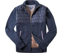 Cardigan Vintage Fit Baumwolle marineblau