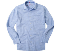 Hemd Classic Fit Chambray meliert