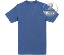 T-Shirts Regular Fit Baumwolle meliert