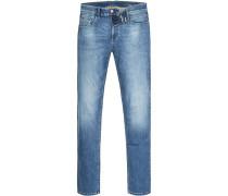 Jeans Modern Fit Baumwoll-Stretch jeansblau