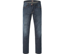 Jeans-Hose Modern Fit Baumwoll-Stretch dunkelblau