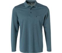 Polo-Shirts, Pima-Baumwolle, rauchblau meliert