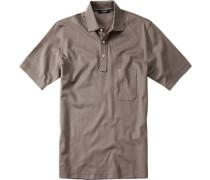 Polo-Shirt Polo Baumwoll-Piqué taupe