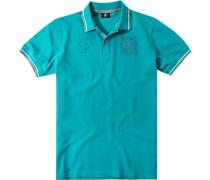 Polo-Shirt Polo Regular Fit Baumwoll-Piqué türkis