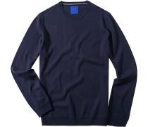 Herren Pullover Schurwolle marine blau