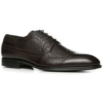 Schuhe Budapester Leder dunkelbraun
