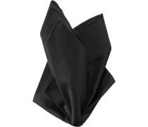 Herren Accessoires  Einstecktuch Baumwolle schwarz