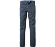 Blue-Jeans Classic Fit Baumwoll-Stretch dunkelblau