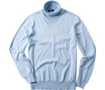 Pullover Merinowolle hellblau